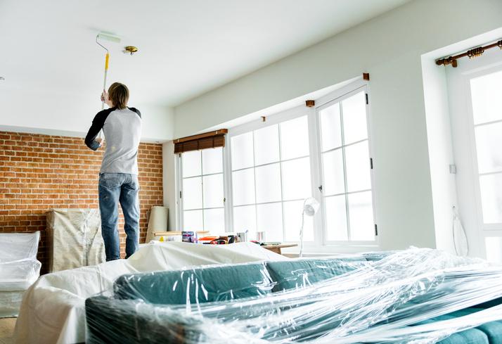 repeindre les plafonds